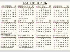 Kalender 2016 Lengkap Beserta Liburnya Ketemulagicom