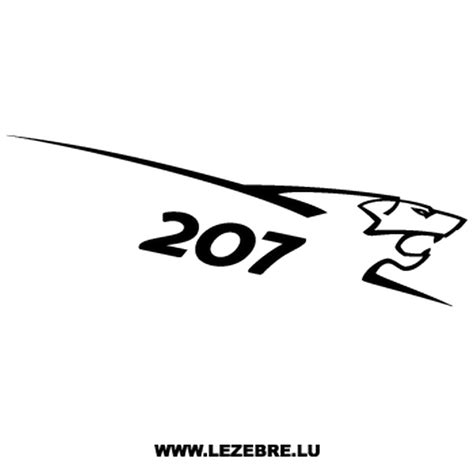 Peugeot Decals by Peugeot Sport 207 Decal