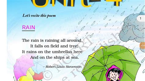 The mission of our channel is to provide quality education to the students with best teaching aids and techniques. Rain poem ncert class 2nd english book marigold हिंदी में - YouTube