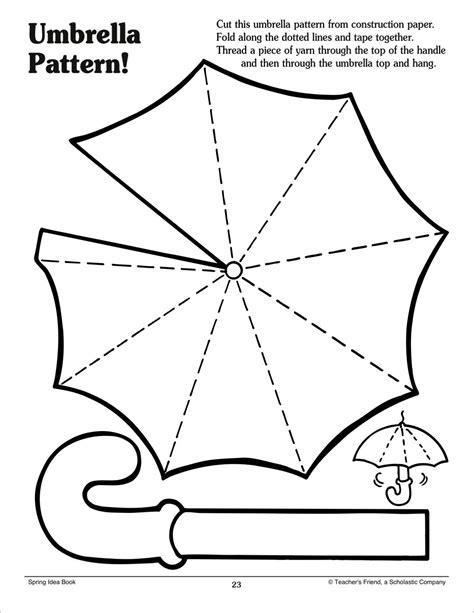 crafts free templates umbrella pattern scholastic printables preschool march