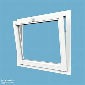 Fenêtre PVC Gamme CONFORT à 1 vantail soufflet abattant