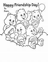 Coloring Friendship Pages Printable Friends Friend Card Quotes Care Print Bears Cards Bear Forever Colouring Cute Bff Sheet Printables Happy sketch template