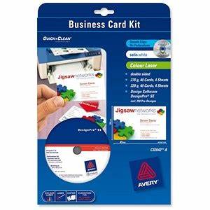 Avery business card kit laser with software and 8 sheets for Avery business card software