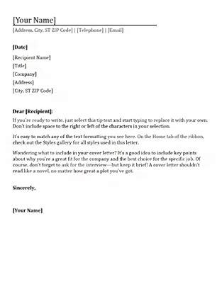 Template Cover Letter For Resume Microsoft by Resume Cover Letter Office Templates