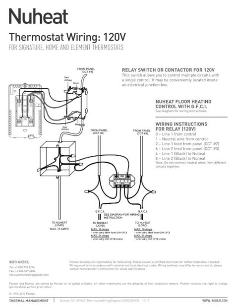 element thermostat  nuheat floor heating