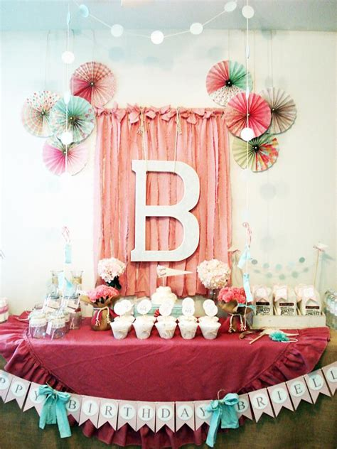 karas party ideas vintage chic st girl boy birthday party planning ideas decorations