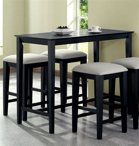 Marvelous Counter Height Kitchen Tables Modern Black White