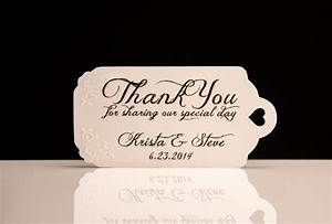 wedding favor tags hand embossed personalized thank you With personalized thank you tags for wedding favors