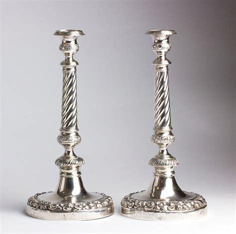 candelieri in argento coppia di candelieri in argento 833 napoli