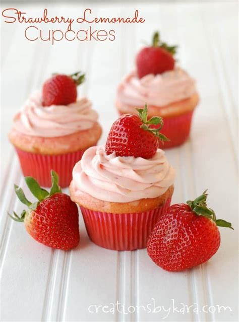 strawberry lemonade cupcakes  strawberry cream cheese