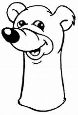 Puppet Coloring Bear sketch template