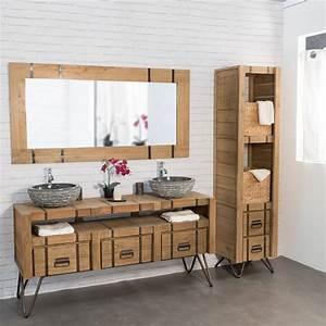 Mirroir Salle De Bain : miroir de salle de bain 160 loft naturel ~ Dode.kayakingforconservation.com Idées de Décoration