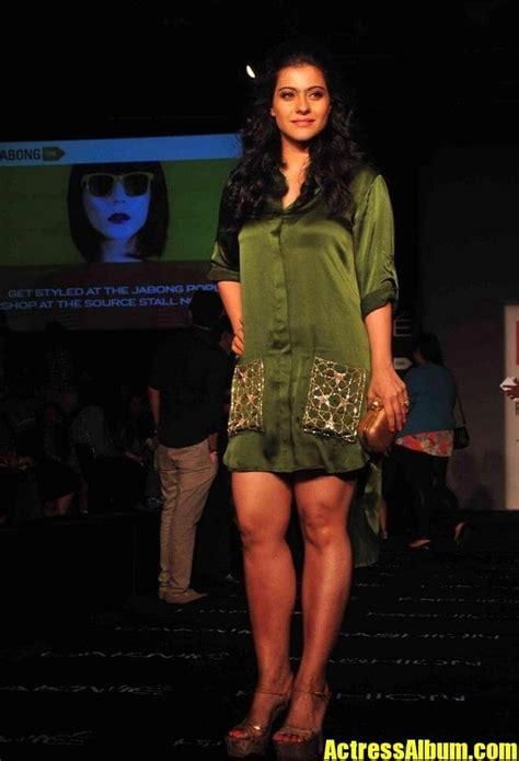 indian hot lady kajol legs thighs  green dress actress