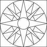 Coloring Pages Geometric Simple Fun sketch template