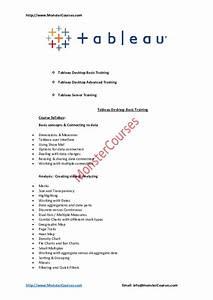 Pdf Tableau Syllabus Pdf Monster Courses Academia Edu