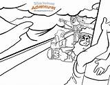 Coloring Paul Shipwrecked Bible Pathway Storm Apostle Adventures Endor Witch Popular sketch template