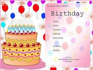 birthday template invitation happy birthday invitations With happy birthday invites template