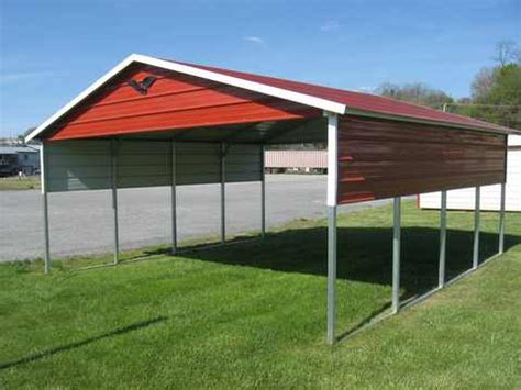 vertical roof carport storage solutions