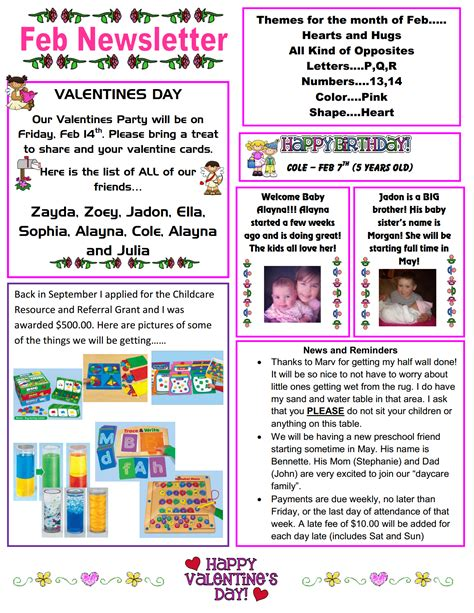 daycare newsletter templates best photos of day care newsletter templates sle daycare newsletter templates child care