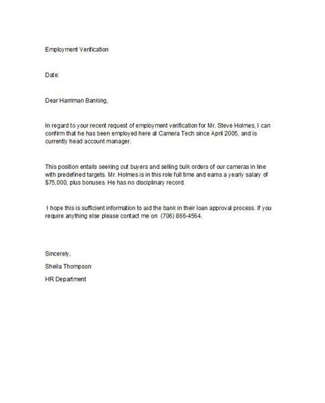 proof  employment letters verification forms