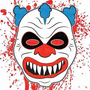 clown masks template images backgrounds clipart images With clown mask template