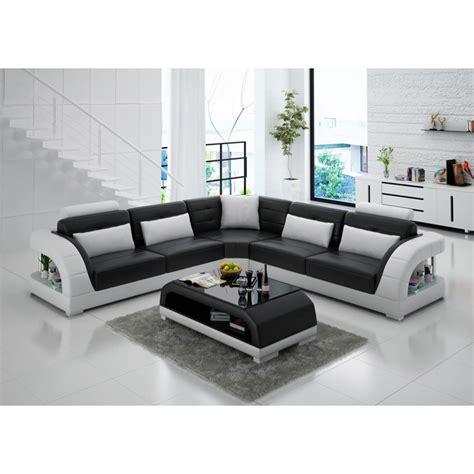 canape en angle grand canapé d 39 angle en cuir enzo pop design fr