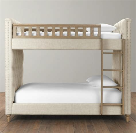 restoration hardware bunk bed upholstered bunk beds