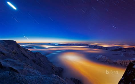 sea  clouds  chamonix valley france  masterfile