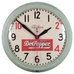 1950 Dr Pepper Lighted Advertising Clock 10 2 4 RARE