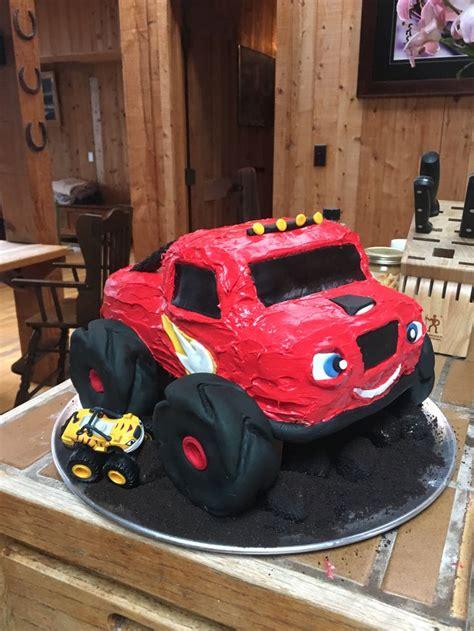 blaze  monster truck cake sweets pinterest trucks