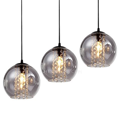 Kitchen Island Pendant Lighting Ideas - awesome overstock 3 light grey glass shade pendant for kitchen pertaining to shades pendant