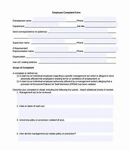 23 hr complaint forms free sample example format With hr complaint form template