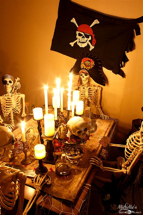 host  pirate dinner party halloween party ideas