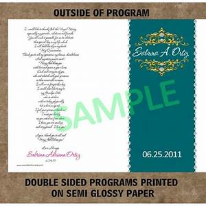 Teal Quinceanera Program