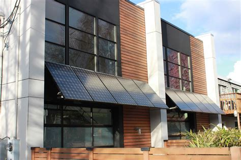 Solar Panels Used As Awning