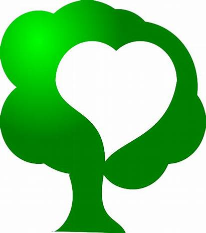 Environment Save Tree Clipart Saving Heart Trees