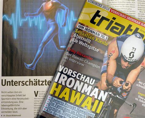 """Sie kann als einfache begleiterscheinung einer grippe auftreten. Herzmuskelentzündung / Myokarditis - Dr. Hildebrandt mit Artikel im Magazin """"triathlon"""" über ..."""