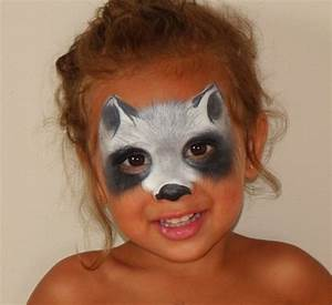 Animal Mask: Racoon #FacePainting #AnimalMask (If anyone ...
