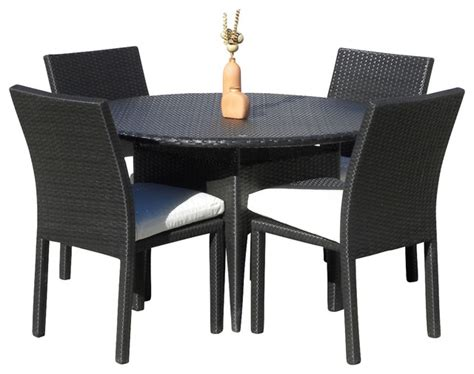 resin outdoor dining table outdoor wicker new resin 5 piece round dining table and