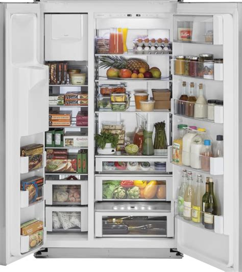 monogram zisbdk   built  side  side refrigerator  adjustable glass shelves