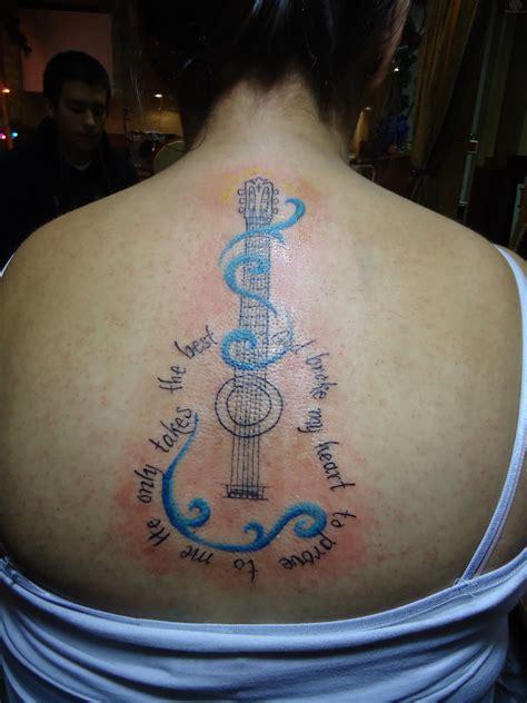 guitar memorial tattoo