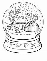 Coloring Winter Pages Adults Christmas Scenery sketch template