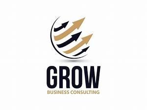 GROW Business Consulting logo design by poptartdeco ...
