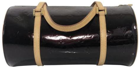 louis vuitton papillon   amarante purple monogram vernis leather shoulder bag tradesy