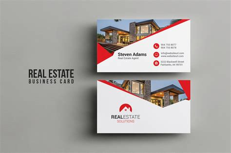real estate business card business card templates