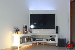 Meuble tv en coin meuble tv bois Maisonjoffrois