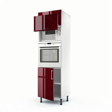 colonne de cuisine but meuble de cuisine colonne 3 portes griotte h 200 x l