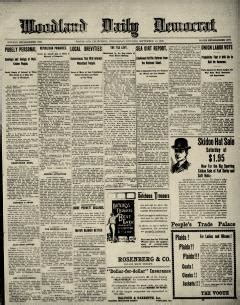 woodland daily democrat newspaper archives sep
