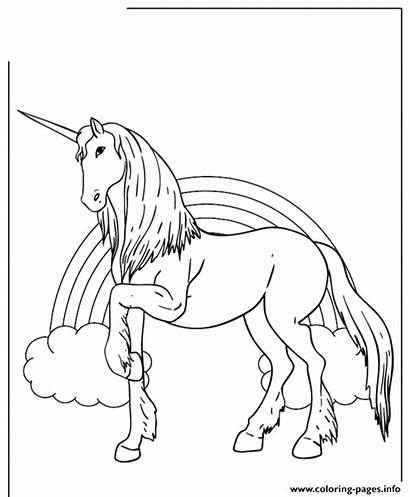 Unicorn Coloring Rainbow Pages Background Printable Cartoon
