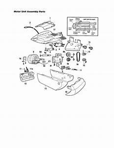 Craftsman Garage Door Opener Motor Unit Assembly Parts